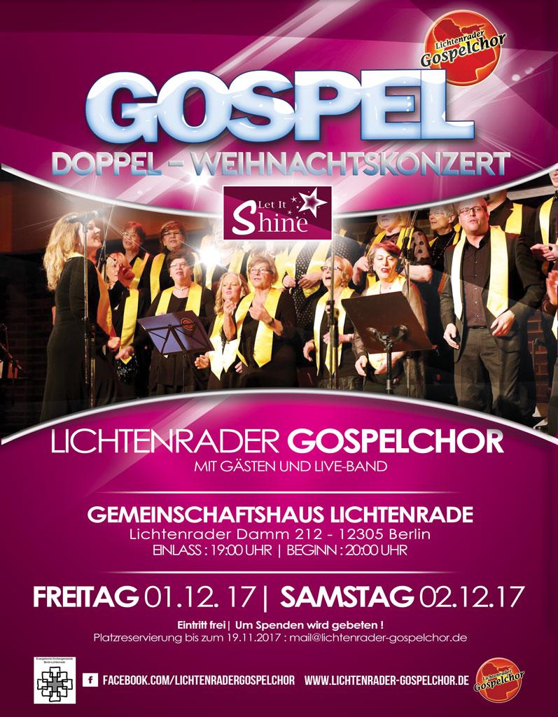 Gospelchor Plakat